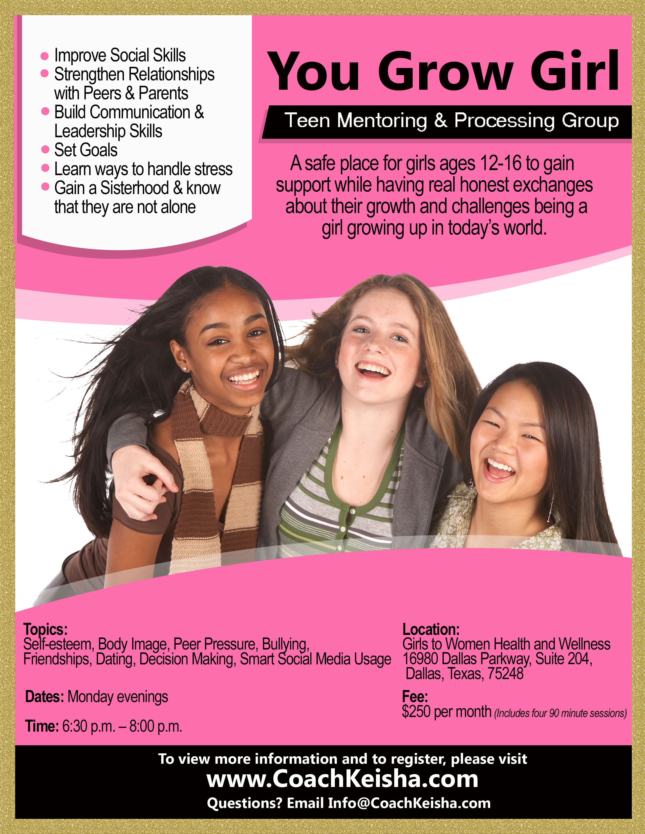 You Grow Girl – Mentoring Group